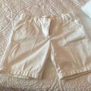 """J crew 5"""" white shorts"""